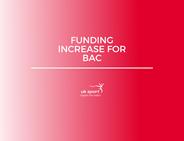 BAC funding increase announced