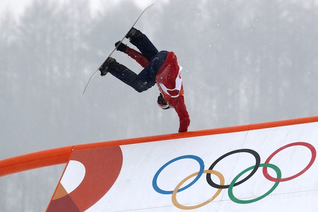 Billy Morgan at the Winter Olympics