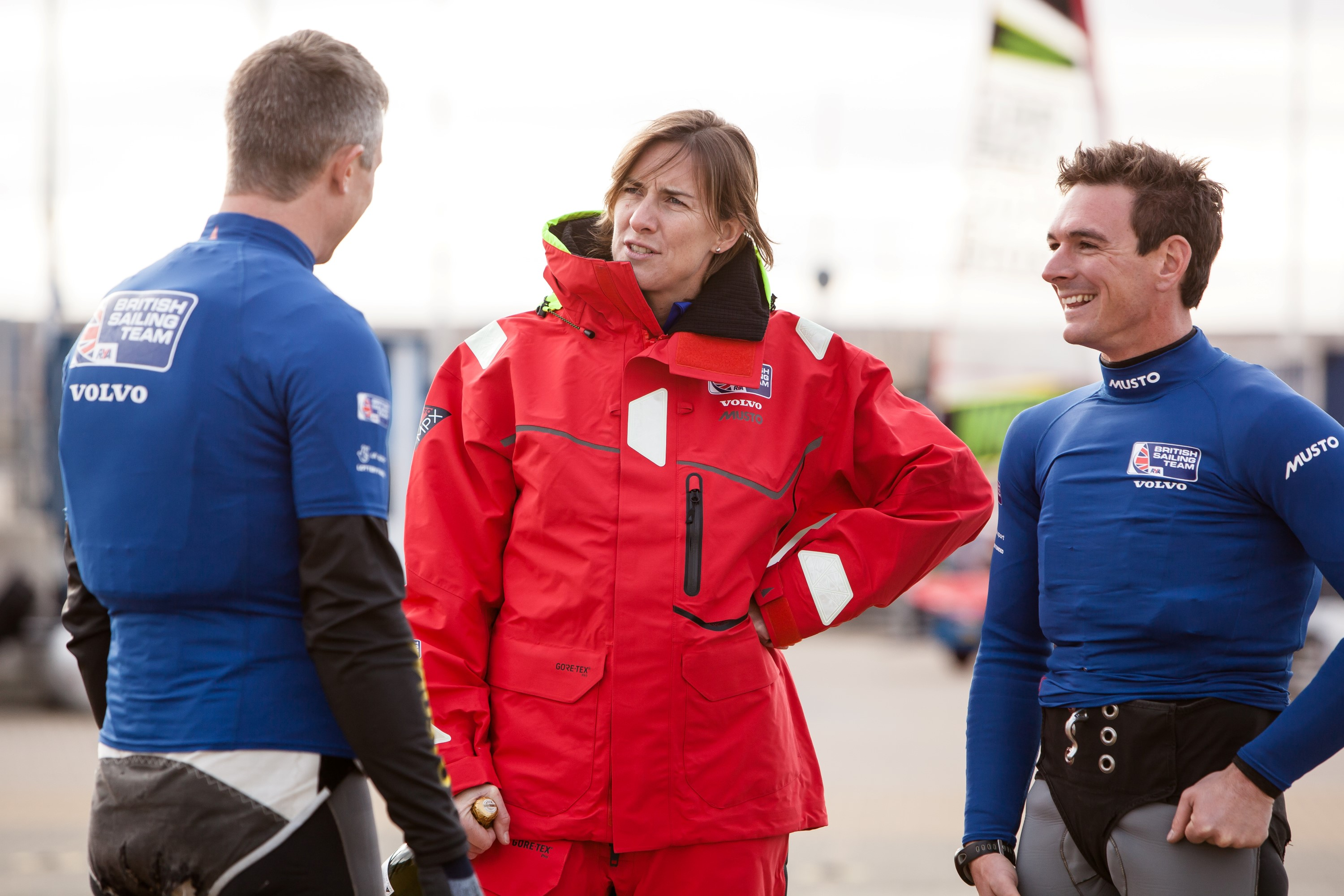 Dame Katherine Grainger with Dylan Fletcher and Stuart Bithell